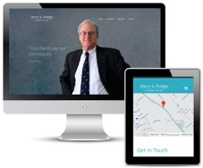 Logo and website design for law firm