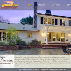 Custom WordPress website for construction company